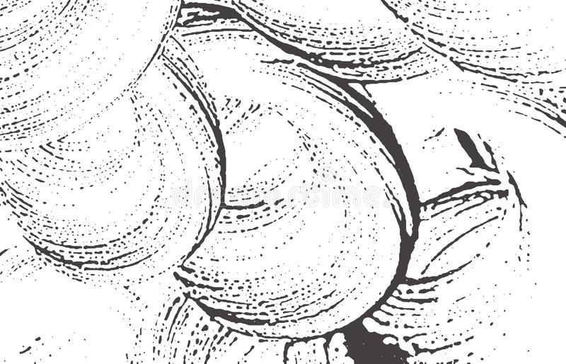 Grunge tekstura Cierpienia czerni popielaty szorstki ślad A ilustracja wektor