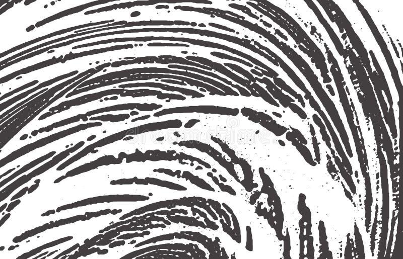 Grunge tekstura Cierpienia czerni popielaty szorstki ?lad B ilustracji