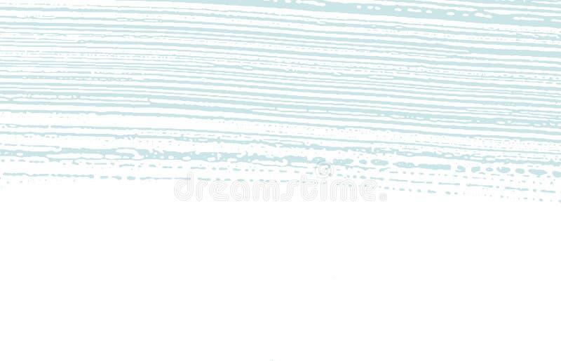 Grunge tekstura Cierpienie błękitny szorstki ślad Breatht ilustracja wektor