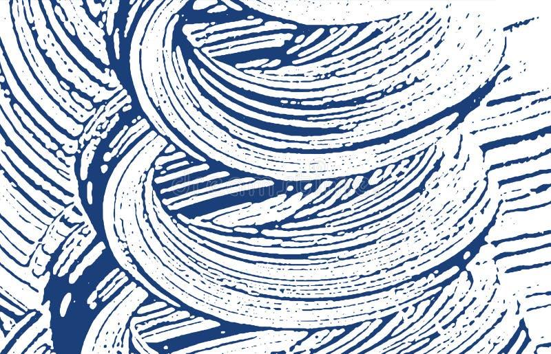 Grunge tekstura Cierpienie indygowy szorstki ślad Delig ilustracja wektor