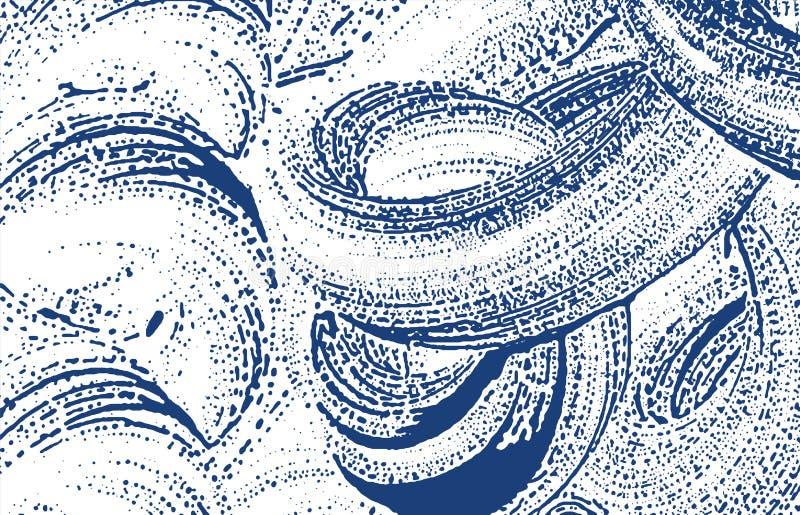Grunge tekstura Cierpienie indygowy szorstki ślad Ecsta ilustracja wektor