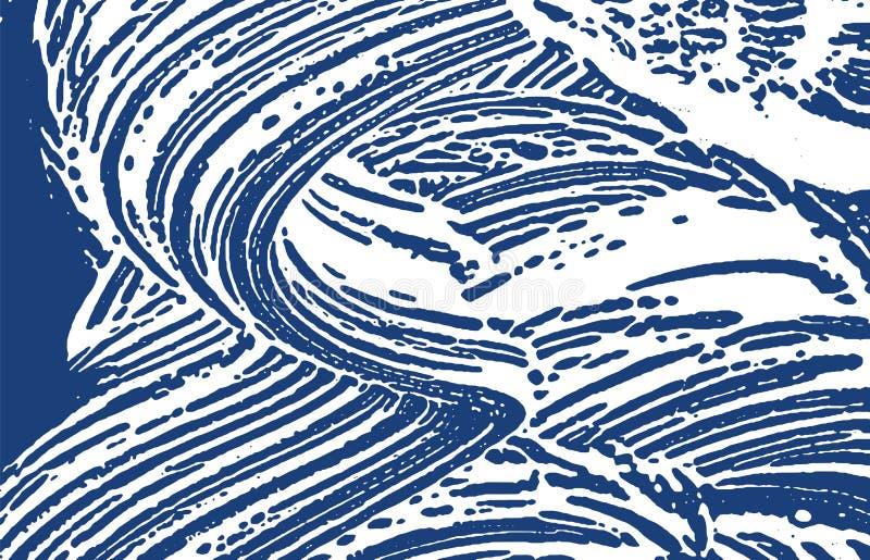 Grunge tekstura Cierpienie indygowy szorstki ślad Energ ilustracja wektor