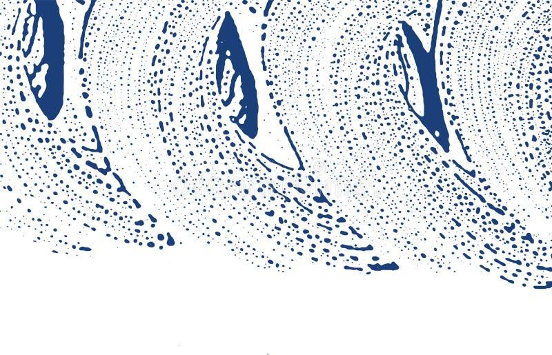 Grunge tekstura Cierpienie indygowy szorstki ślad Boski tło Hałasu grunge brudna tekstura magnesowy ilustracja wektor