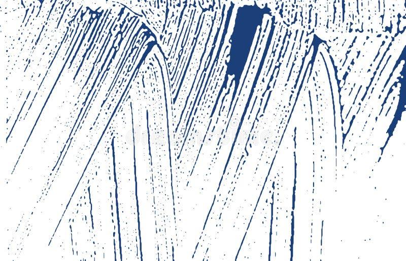 Grunge tekstura Cierpienie indygowy szorstki ślad Ecsta royalty ilustracja