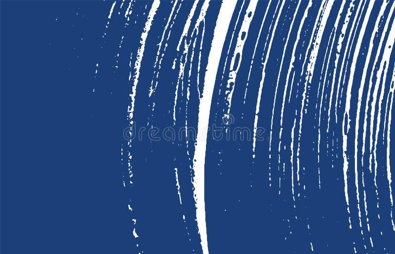 Grunge tekstura Cierpienie indygowy szorstki ślad Emoti ilustracji
