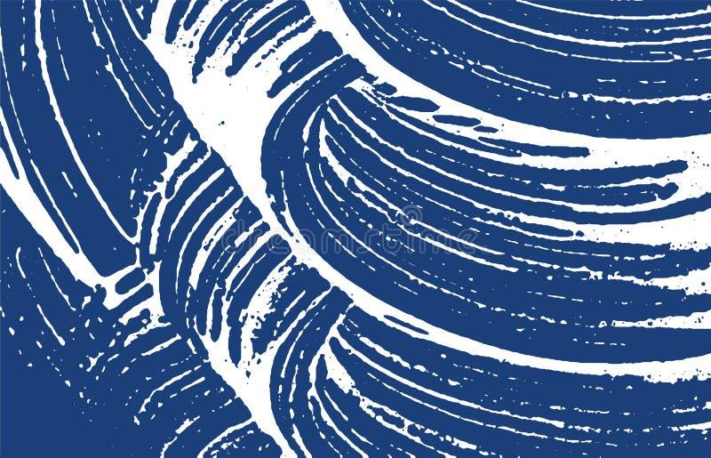 Grunge tekstura Cierpienie indygowy szorstki ślad Encha royalty ilustracja