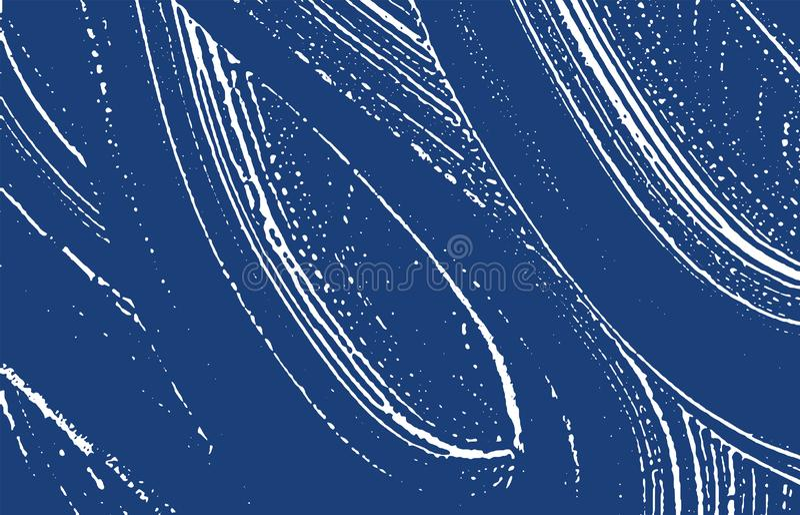 Grunge tekstura Cierpienie indygowy szorstki ślad Excep royalty ilustracja