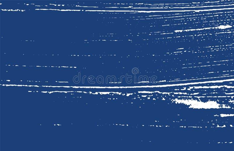 Grunge tekstura Cierpienie indygowy szorstki ślad przoduje ilustracja wektor