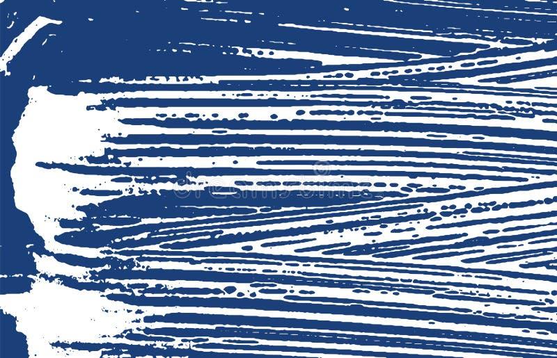 Grunge tekstura Cierpienie indygowy szorstki ?lad Encha royalty ilustracja