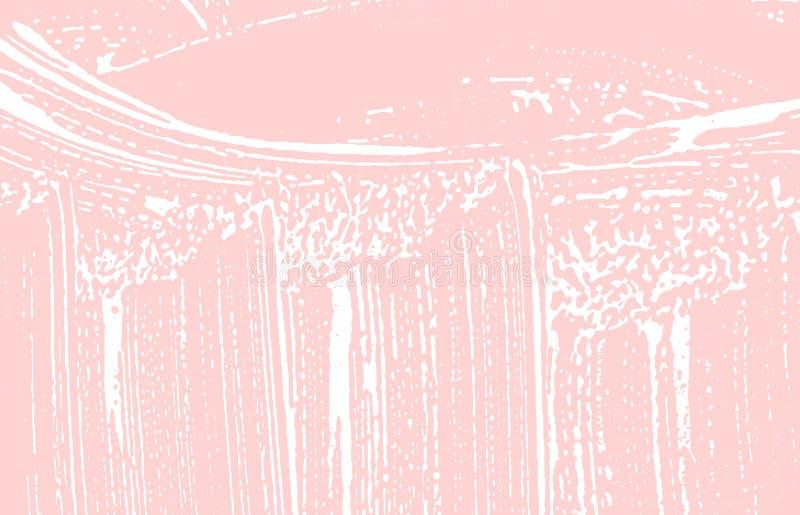 Grunge tekstura Cierpienie różowy szorstki ślad Glamoro ilustracji