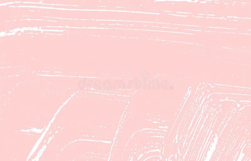 Grunge tekstura Cierpienie różowy szorstki ślad Glamoro ilustracja wektor