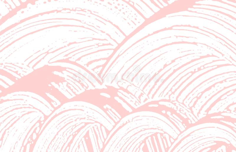 Grunge tekstura Cierpienie różowy szorstki ślad Uczciwi półdupki ilustracja wektor