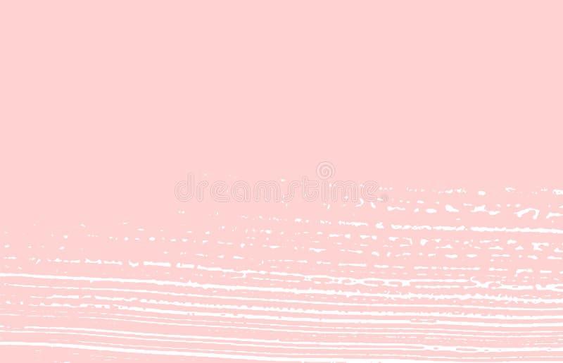 Grunge tekstura Cierpienie różowy szorstki ślad Świeży b ilustracja wektor