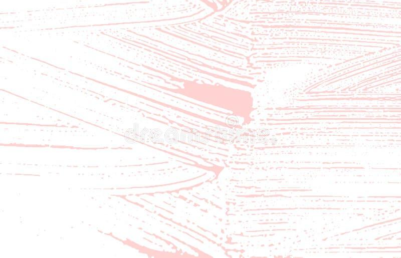 Grunge tekstura Cierpienie różowy szorstki ślad Fascina ilustracja wektor