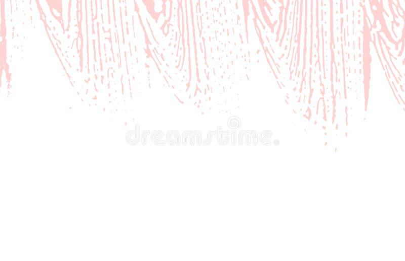 Grunge tekstura Cierpienie różowy szorstki ślad Galanteryjny b ilustracji