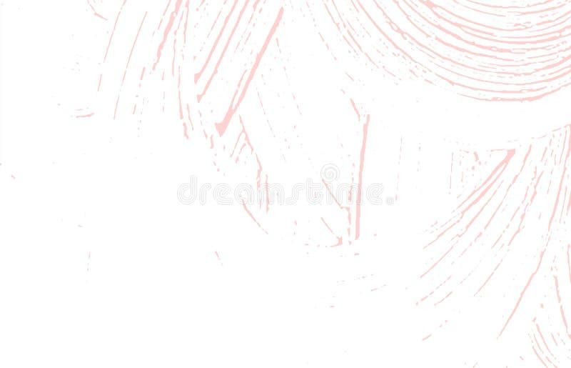 Grunge tekstura Cierpienie różowy szorstki ślad Wizjoner ilustracja wektor