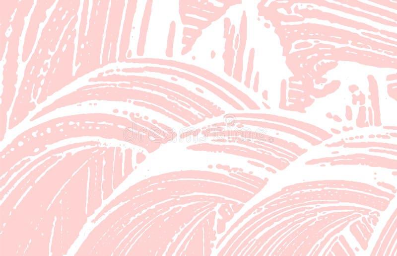 Grunge tekstura Cierpienie r??owy szorstki ?lad Fetchin ilustracja wektor