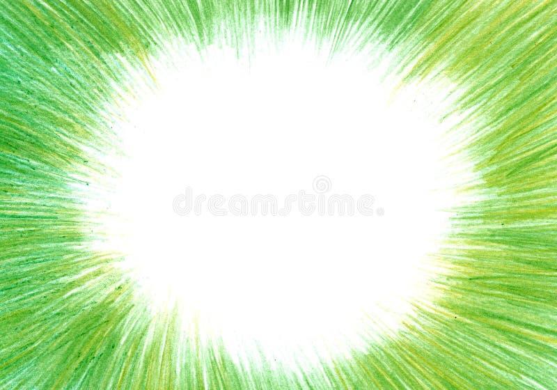 Grunge tekstura, węgla drzewnego tło, zielona ołówek rama ilustracji