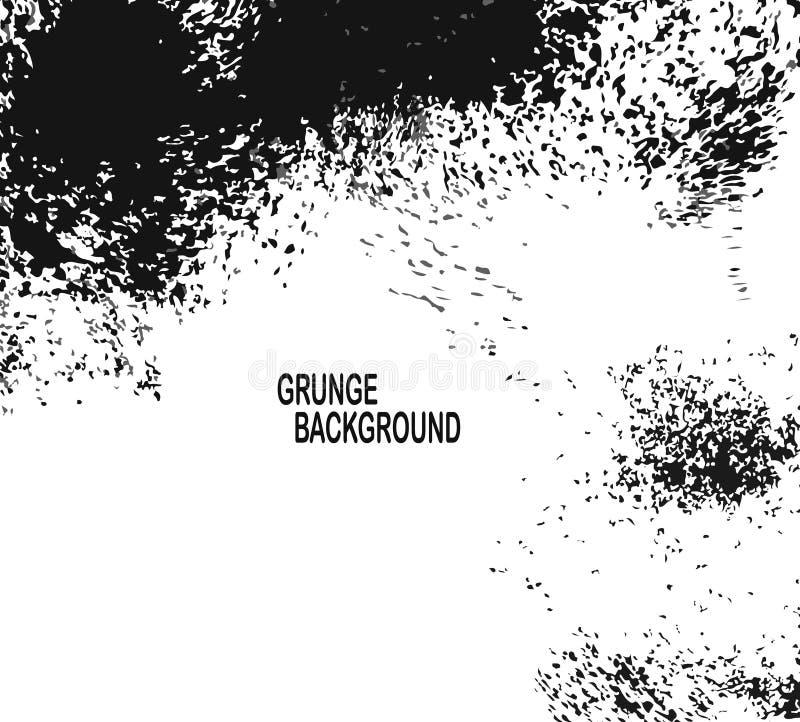 Grunge tekstury Czarny I Biały Miastowy Wektorowy szablon Ciemny Upaćkany pył narzuty cierpienia tło Łatwy Tworzyć abstrakt Kropk royalty ilustracja