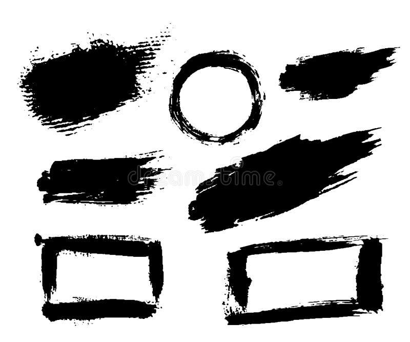 Grunge tekstury szczotkarski rozmaz royalty ilustracja