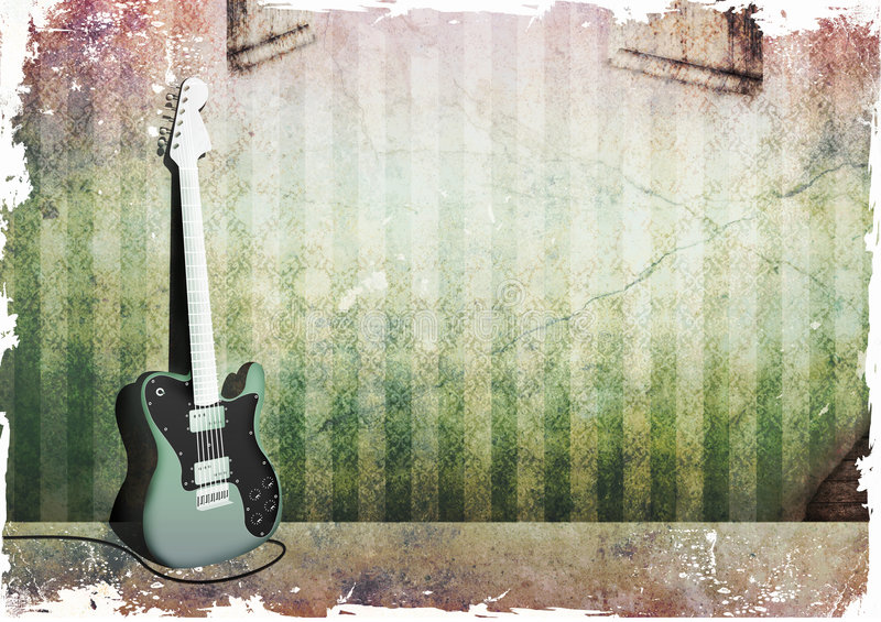 grunge telecaster ελεύθερη απεικόνιση δικαιώματος
