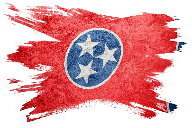 Grunge Tennessee stanu flaga Tennessee flaga muśnięcia uderzenie obraz stock
