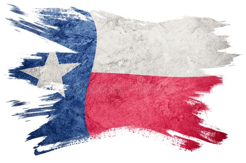 Grunge Texas state flag. Texas flag brush stroke. royalty free stock photo