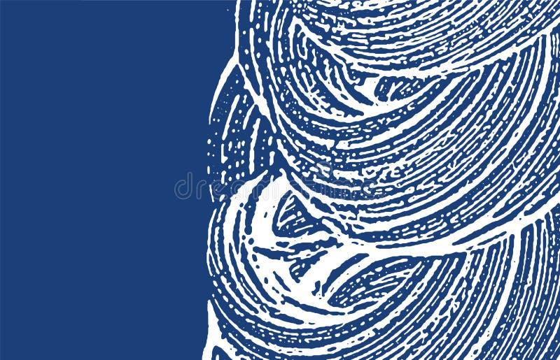 Grunge textur Spår för nödlägeindigoblåttbuse extra stock illustrationer