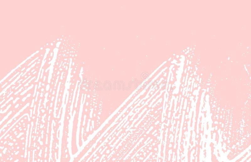 Grunge textur Spår för nödlägerosa färgbuse Behagfull bakgrund Smutsig grungetextur för oväsen Nätt a royaltyfri illustrationer