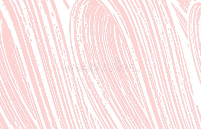 Grunge textur Spår för nödlägerosa färgbuse Utsmyckad bakgrund Smutsig grungetextur för oväsen Beauteous a royaltyfri illustrationer