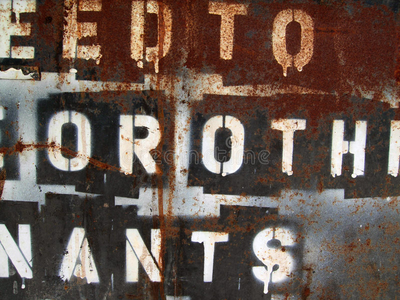 Grunge Texture. With paint, rust, & letters. Click my portfolio for more great grunge