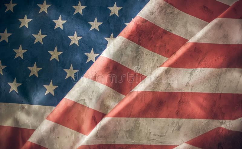 Grunge texture of American flage stock image