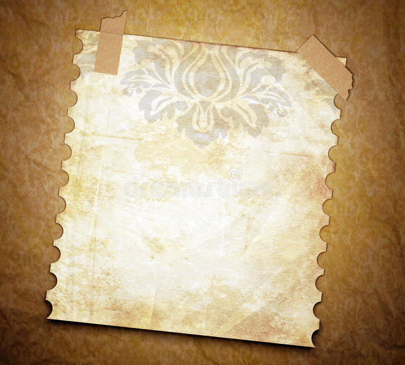 Grunge texture background with old note page. vector illustration