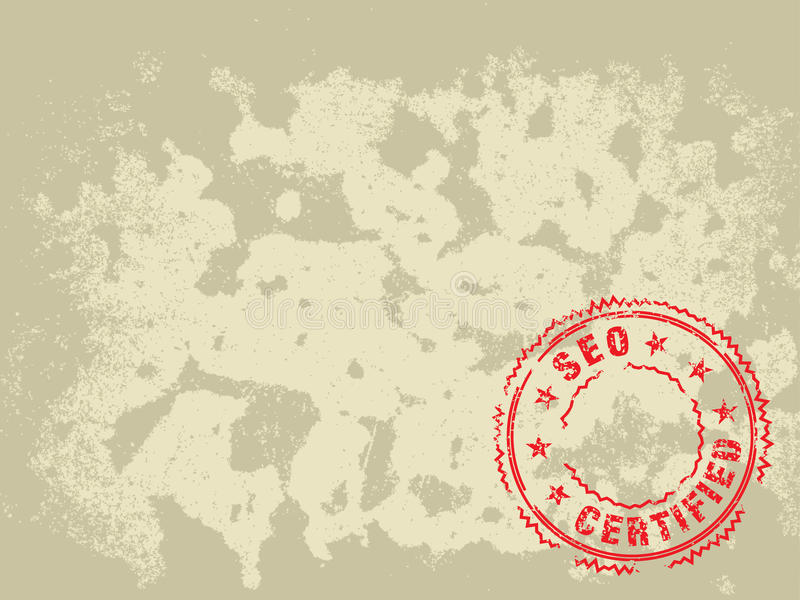 Grunge Texture Background SEO Certified Stamp royalty free illustration