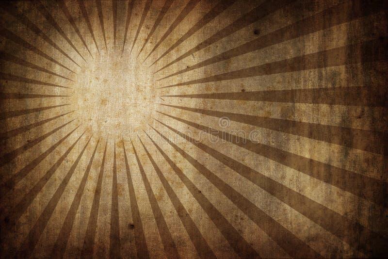 Grunge texture background with sunburst rays stock illustration
