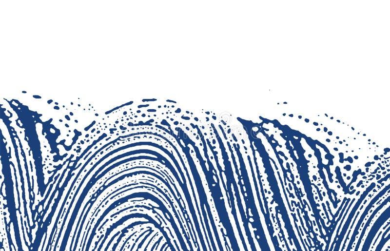 Grunge texture. Distress indigo rough trace. Elega royalty free illustration