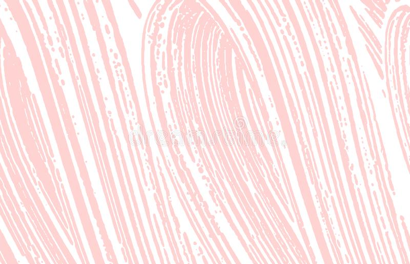 Grunge texture. Distress pink rough trace. Fancy background. Noise dirty grunge texture. Beauteous a. Rtistic surface. Vector illustration royalty free illustration