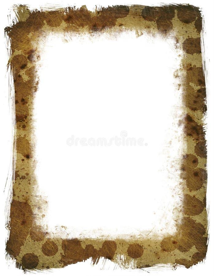 Grunge texture Frame stock illustration