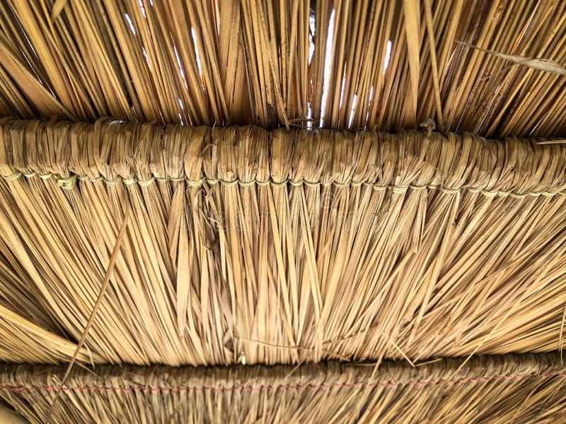 Grunge texture of hay stack roof royalty free stock photo