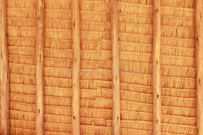 Grunge texture of hay stack roof stock photography