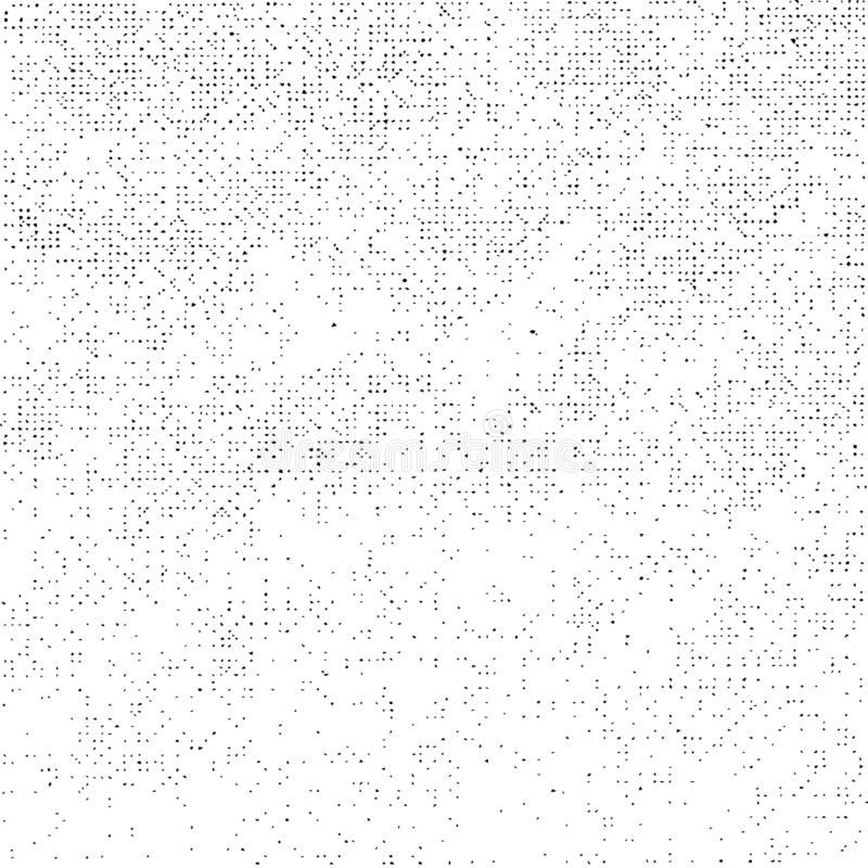 Grunge Texture on White Background, Abstract Dotted Vector, Halftone Scratch, Rough Monochrome Design stock illustration