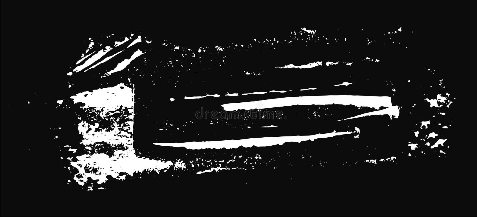 Grunge texture. White brush on black. Vector template. Urban Background. Dust Overlay Distress Grain. Hand drawn illustration. Abstract shape for your design royalty free illustration