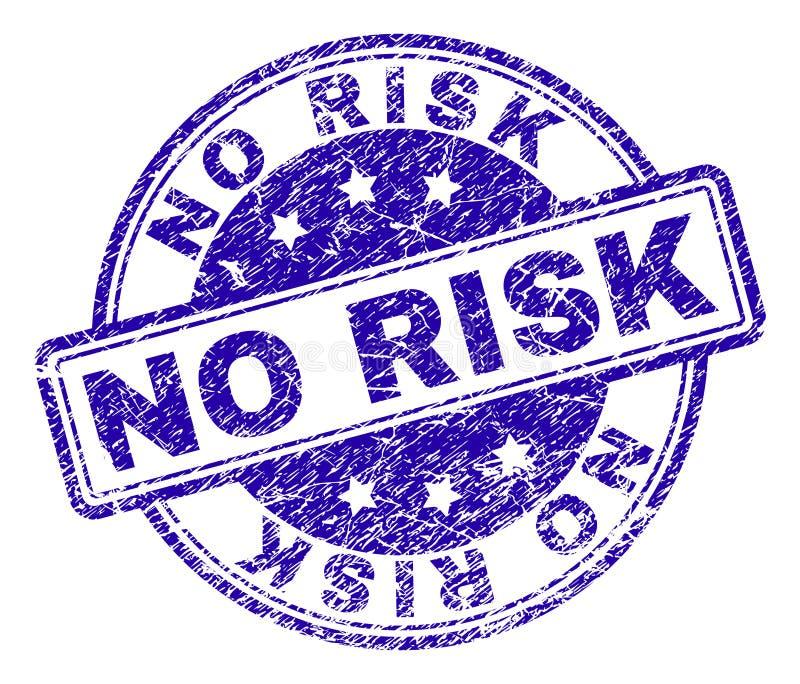 Grunge Textured ŻADNY ryzyko znaczka fokę royalty ilustracja
