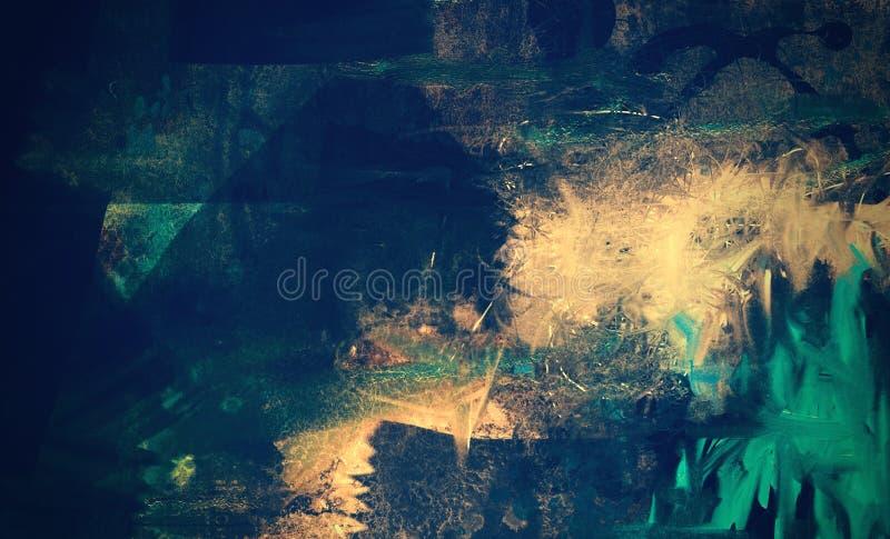 Grunge textured abstrakcjonistyczny cyfrowy tło ilustracji