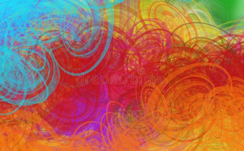 Grunge   textured abstrakcjonistyczny cyfrowy tło ilustracja wektor