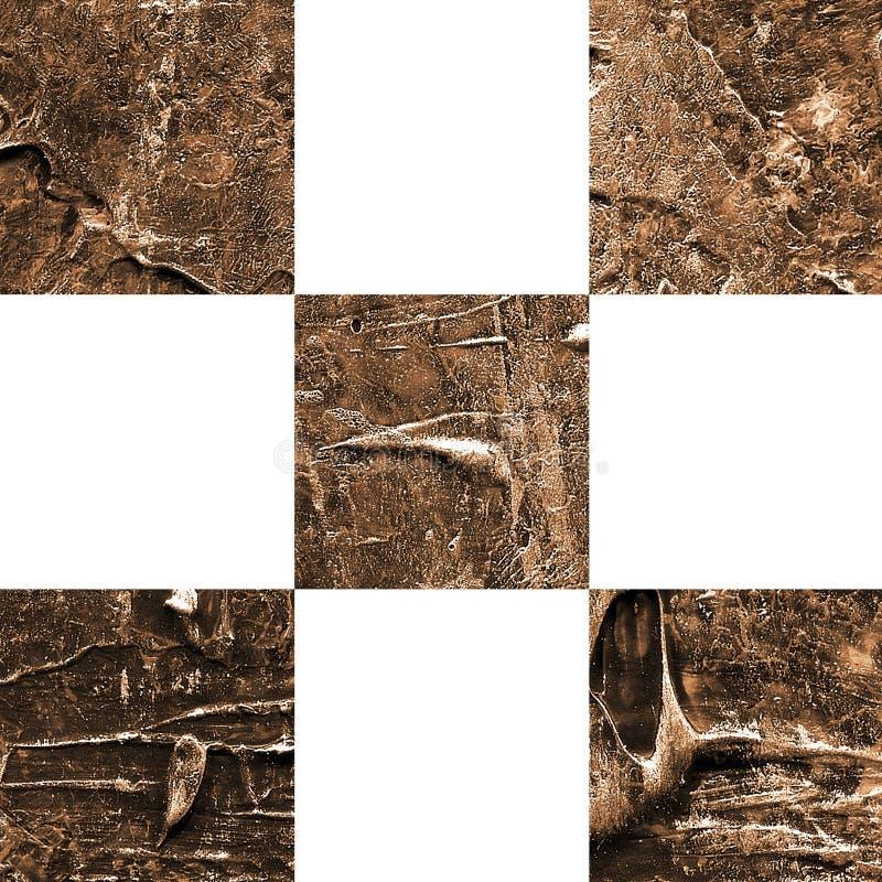 Grunge textured abstrakcjonistyczny w kratkę bezszwowy wzór zdjęcia stock