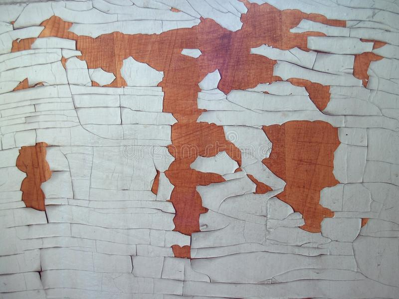 Rusty wooden plank and old paint royalty free stock photo