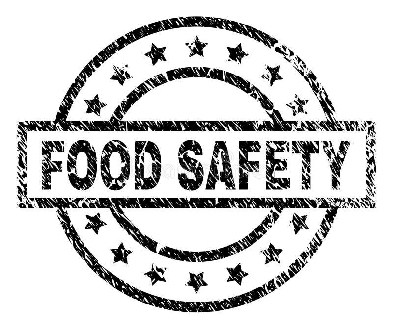 Grunge Textured bezpieczeństwo żywnościowe znaczka foka ilustracja wektor