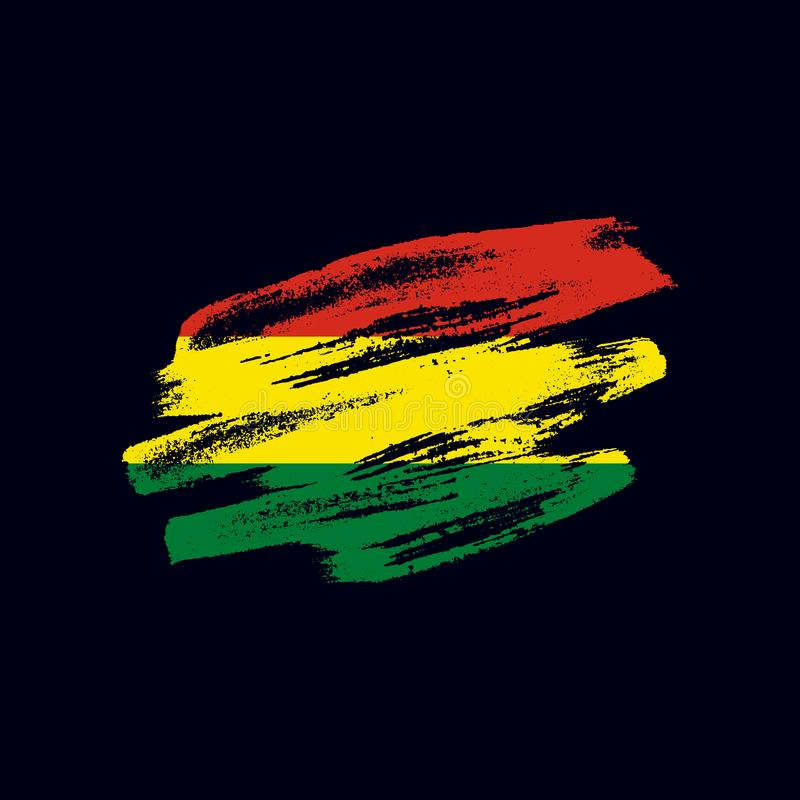 Grunge textured Bolivian flag vector illustration