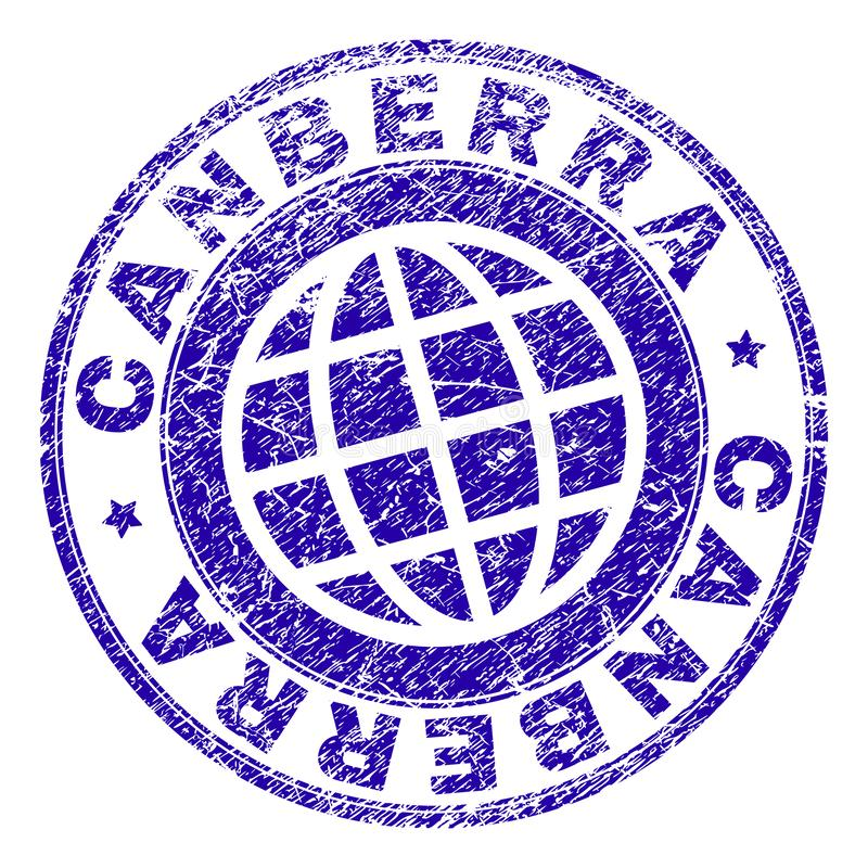 Grunge Textured CANBERRA znaczka foka ilustracji